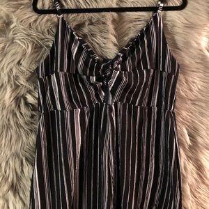 Wild fable black and white stripe romper